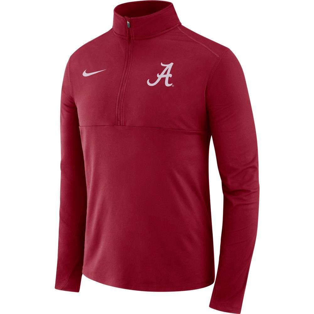 Alabama Nike Dri- Fit Core 1/2 Zip Long Sleeve Pullover