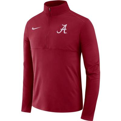 Alabama Nike Dri-FIT Core 1/2 Zip Long Sleeve Pullover TEAM_CRIMSON
