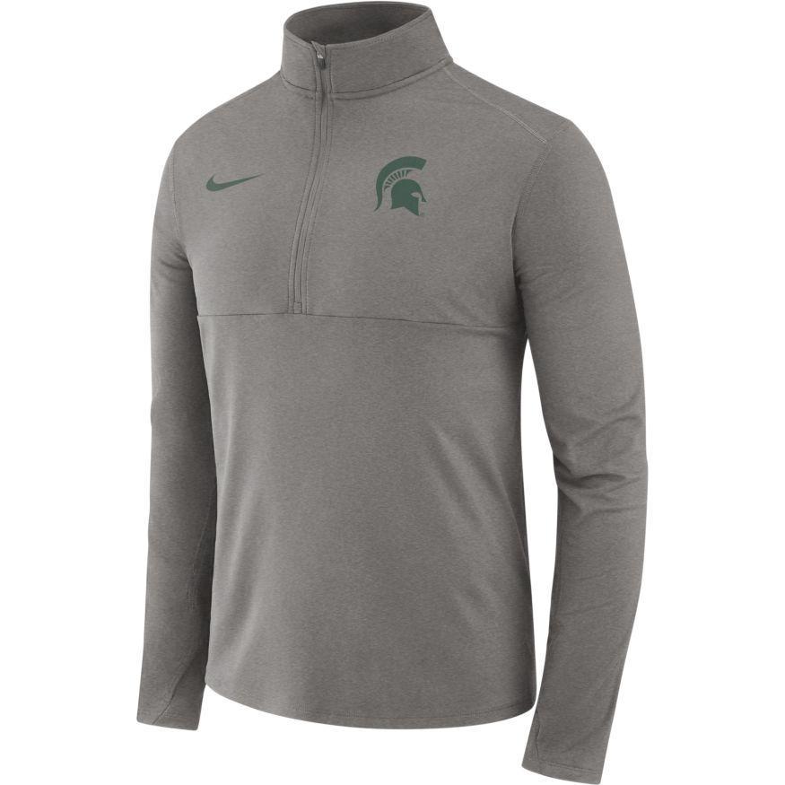 Michigan State Nike Dri- Fit Core 1/2 Zip Long Sleeve Pullover