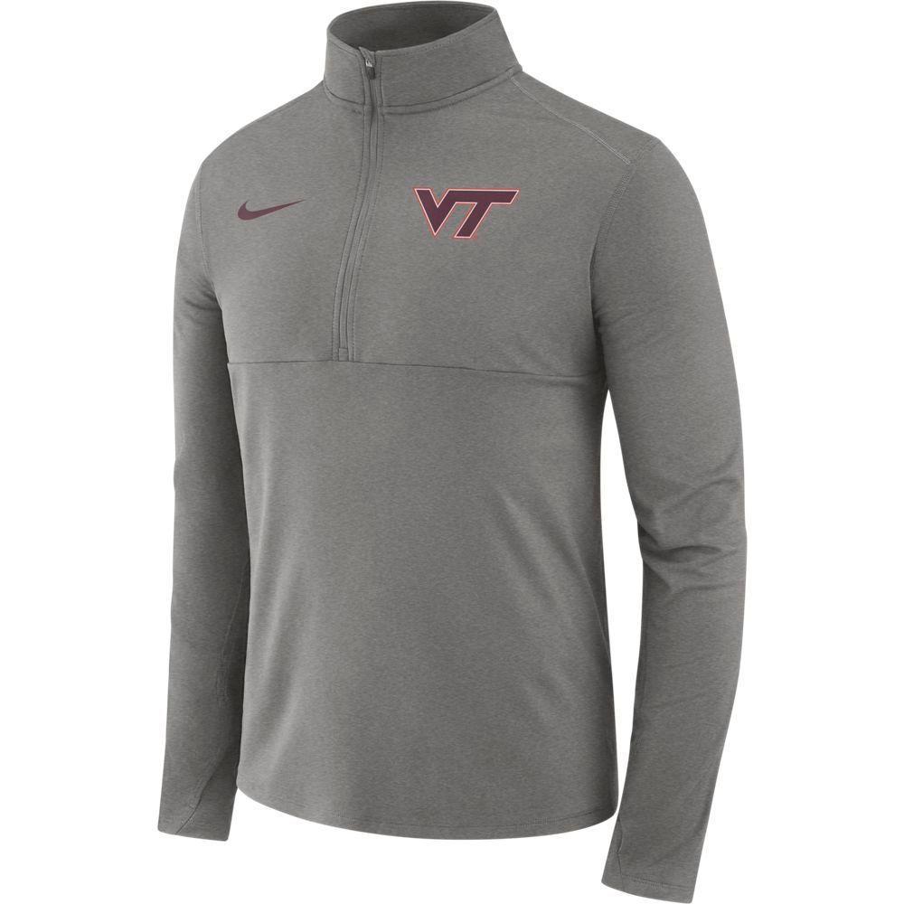 Virginia Tech Nike Dri- Fit Core 1/2 Zip Long Sleeve Pullover