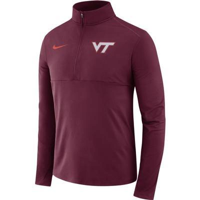 Virginia Tech Nike Dri-FIT Core 1/2 Zip Long Sleeve Pullover MAROON