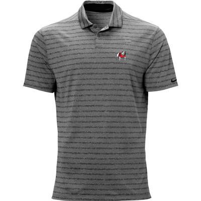 Georgia Nike Golf Vintage Standing Bulldog Vapor Stripe Polo BLACK