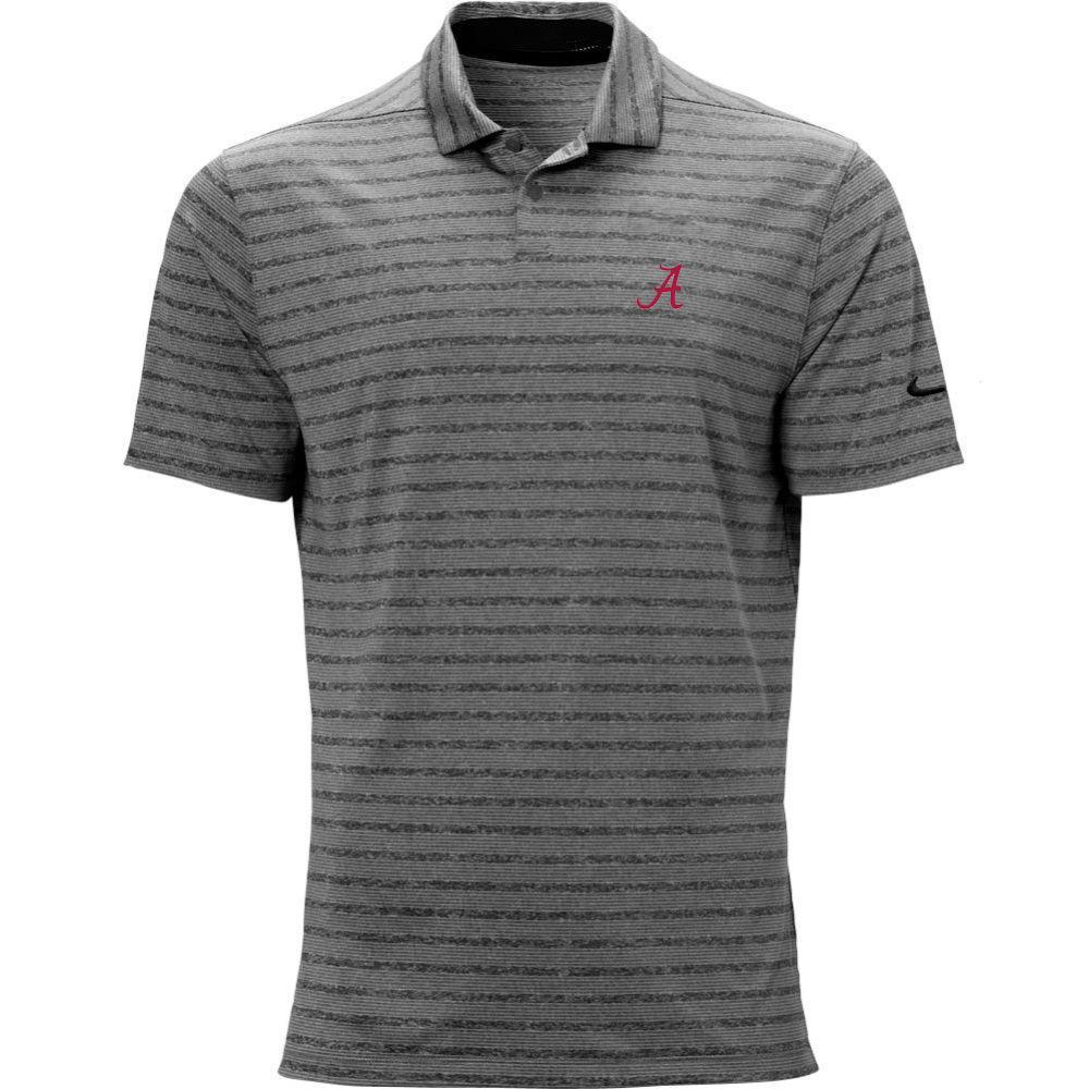 Alabama Nike Golf Script A Vapor Stripe Polo