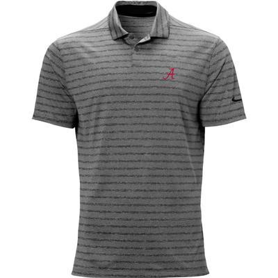 Alabama Nike Golf Script A Vapor Stripe Polo BLACK