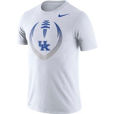 Kentucky Nike Dri-FIT Cotton Short Sleeve Icon Tee WHITE