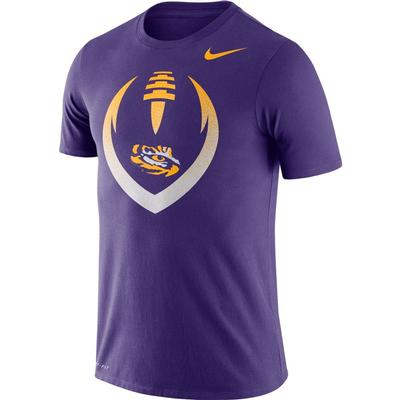 LSU Nike Dri-FIT Cotton Short Sleeve Icon Tee PURPLE