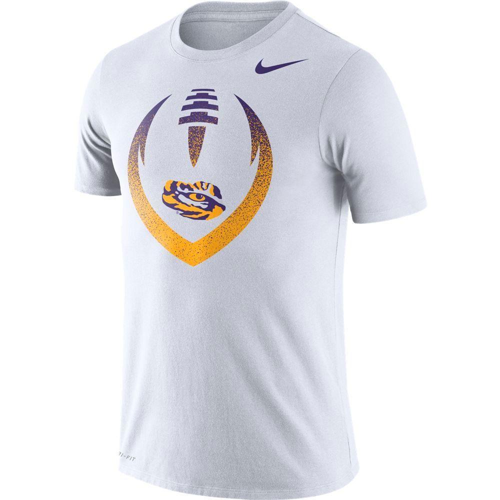 Lsu Nike Dri- Fit Cotton Short Sleeve Icon Tee