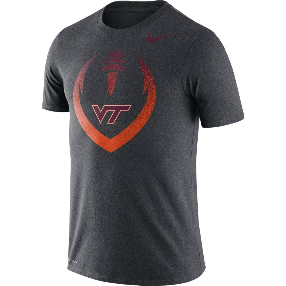 Virginia Tech Nike Dri- Fit Cotton Short Sleeve Icon Tee