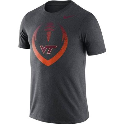 Virginia Tech Nike Dri-FIT Cotton Short Sleeve Icon Tee CHARCOAL_HTHR