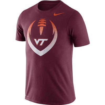 Virginia Tech Nike Dri-FIT Cotton Short Sleeve Icon Tee MAROON