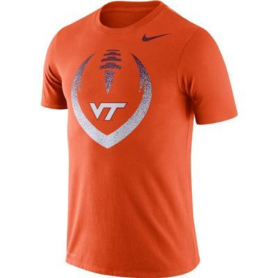 Virginia Tech Nike Dri-FIT Cotton Short Sleeve Icon Tee ORANGE