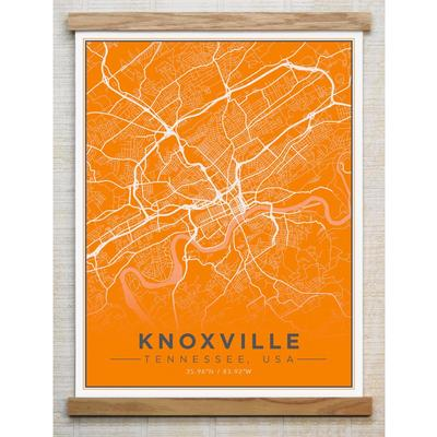 Chirpwood Knoxville Canvas Map 18