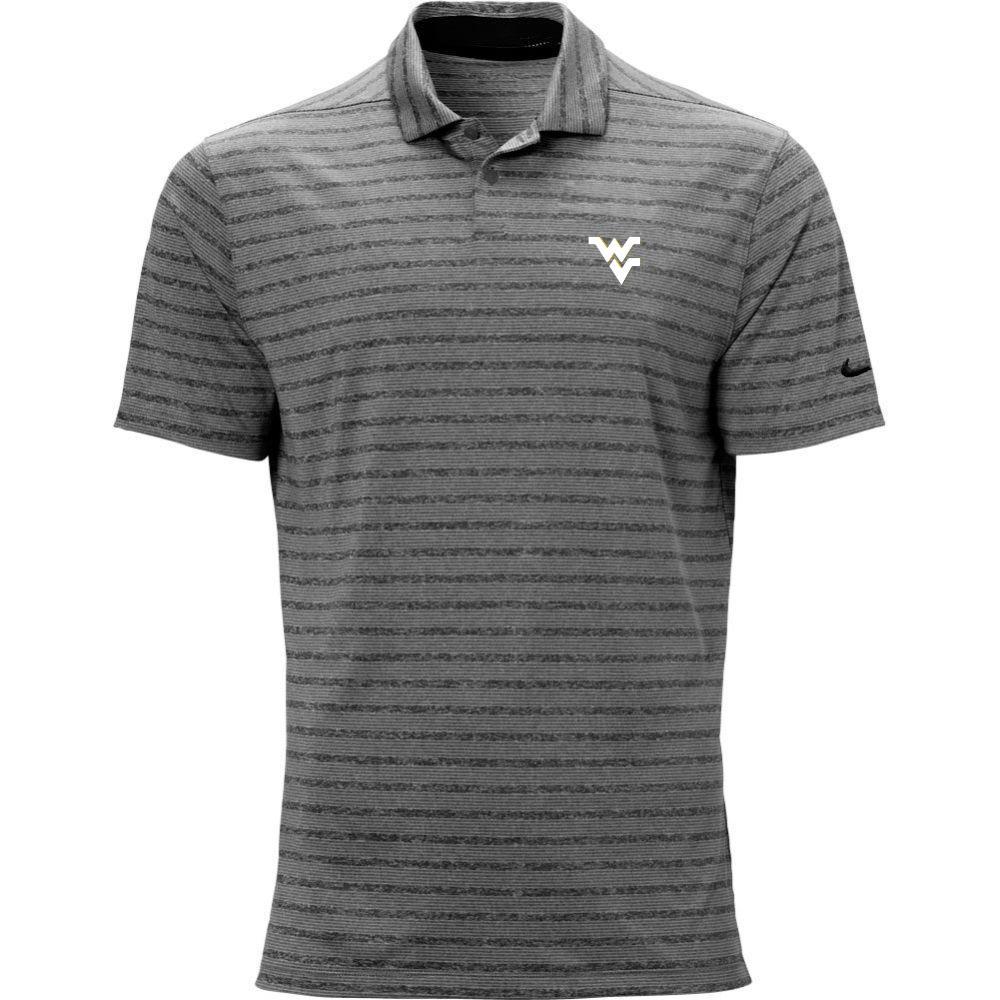 West Virginia Nike Golf Wv Vapor Stripe Polo
