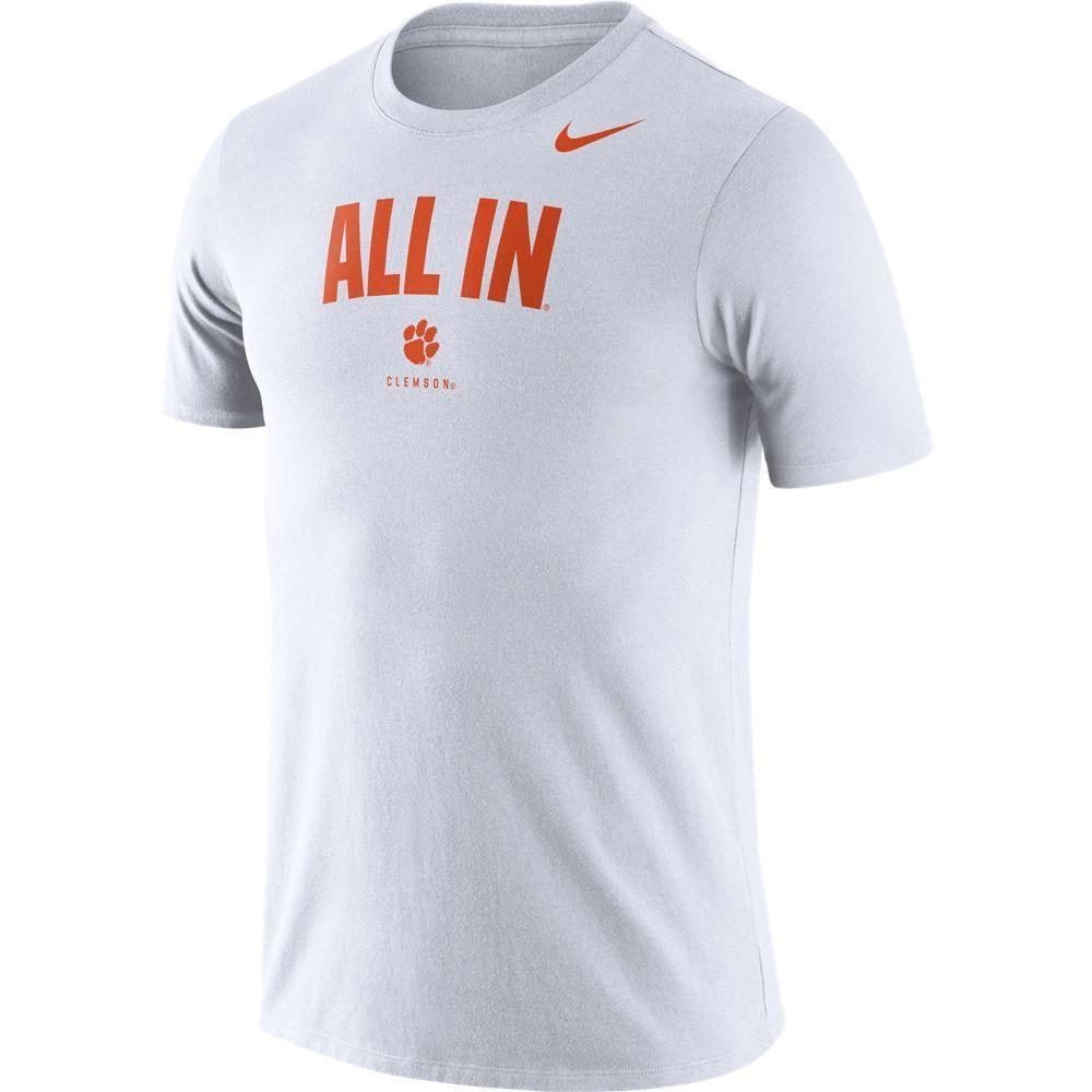 Clemson Nike Dri- Fit Cotton Short Sleeve Local Tee