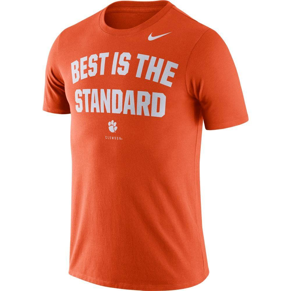 Clemson Nike Dri- Fit Cotton Short Sleeve Local Tee