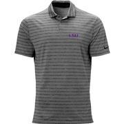 Lsu Nike Golf Logo Vapor Stripe Polo