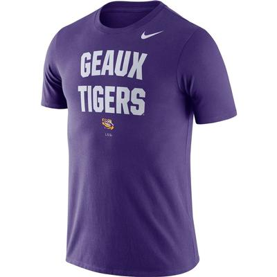 LSU Nike Dri-FIT Cotton Short Sleeve Local Tee