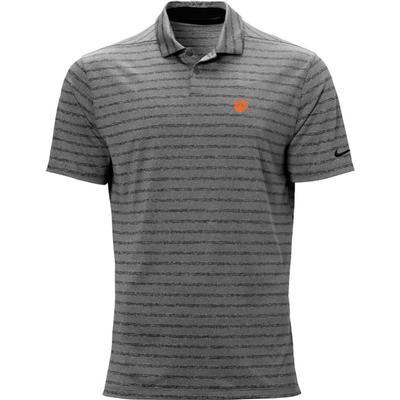 Clemson Nike Golf Logo Vapor Stripe Polo