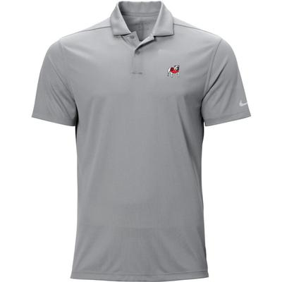 Georgia Nike Golf Standing Bulldog Texture Victory Polo WOLF_GREY