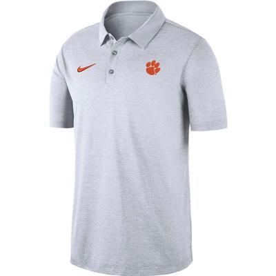 Clemson Nike Dry Polo WHITE