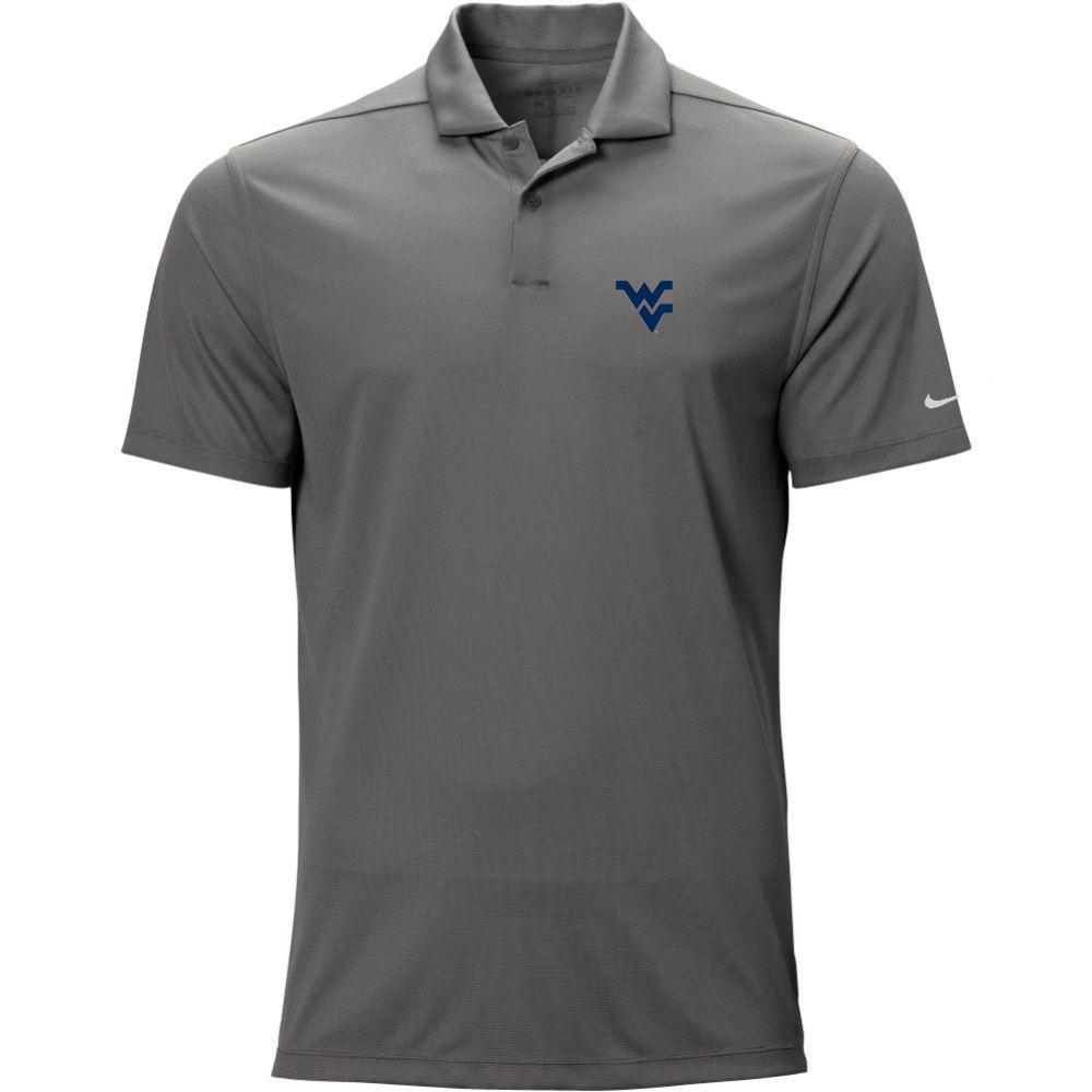 West Virginia Nike Golf Wv Logo Texture Victory Polo