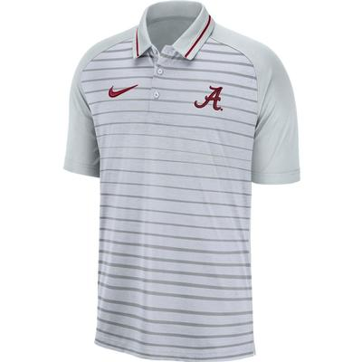 Alabama Nike Dri-FIT Striped Polo