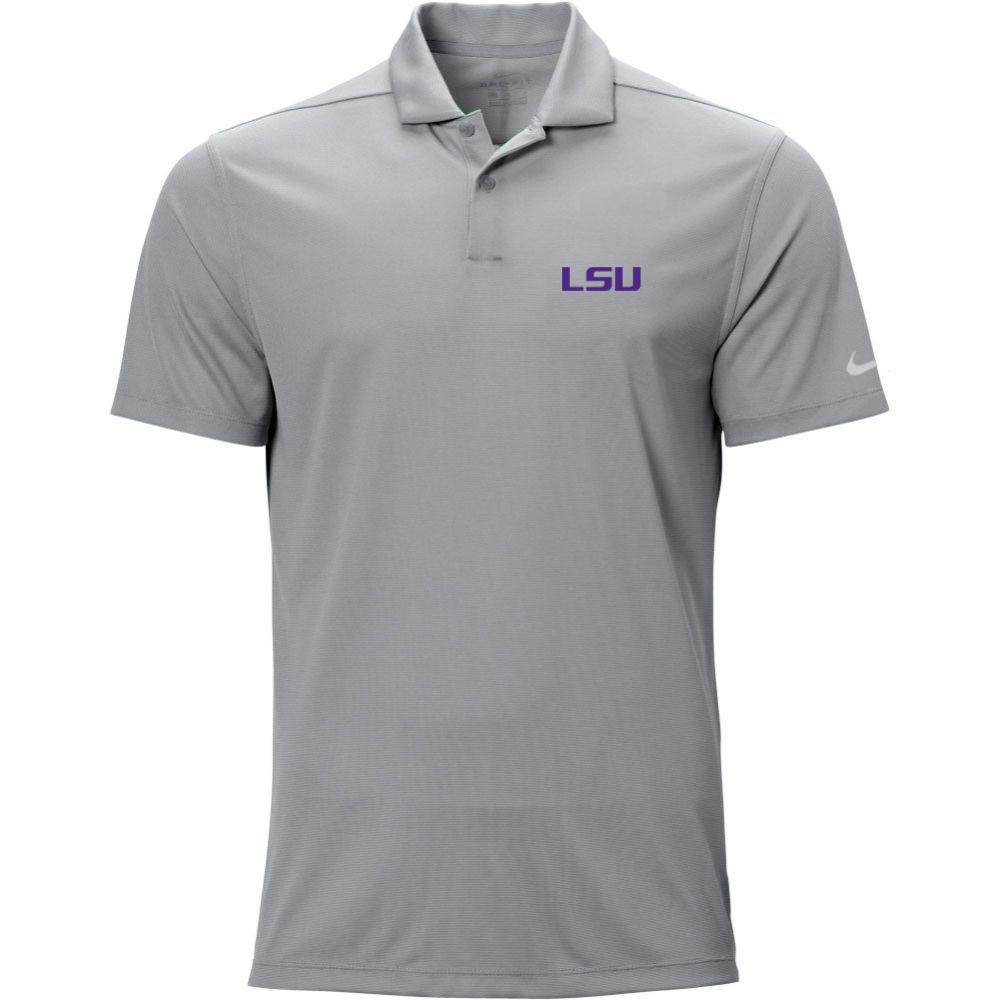 Lsu Nike Golf Logo Texture Victory Polo
