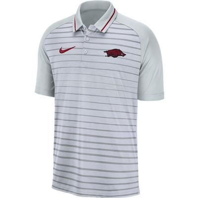 Arkansas Nike Dri-FIT Striped Polo