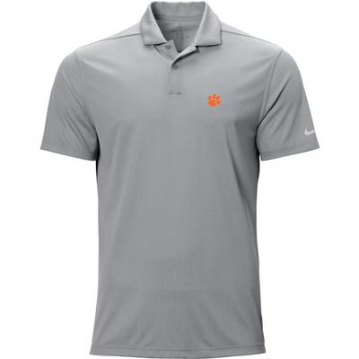 Clemson Nike Golf Logo Texture Victory Polo WOLF_GREY
