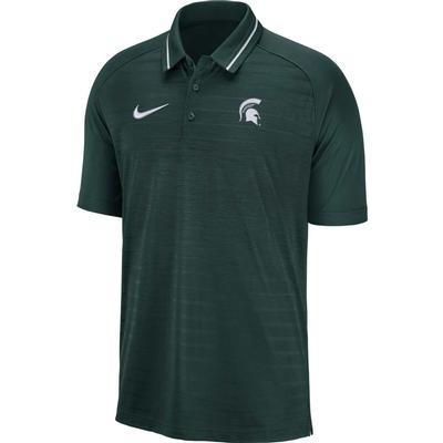 Michigan State Nike Dri-FIT Striped Polo PRO_GREEN