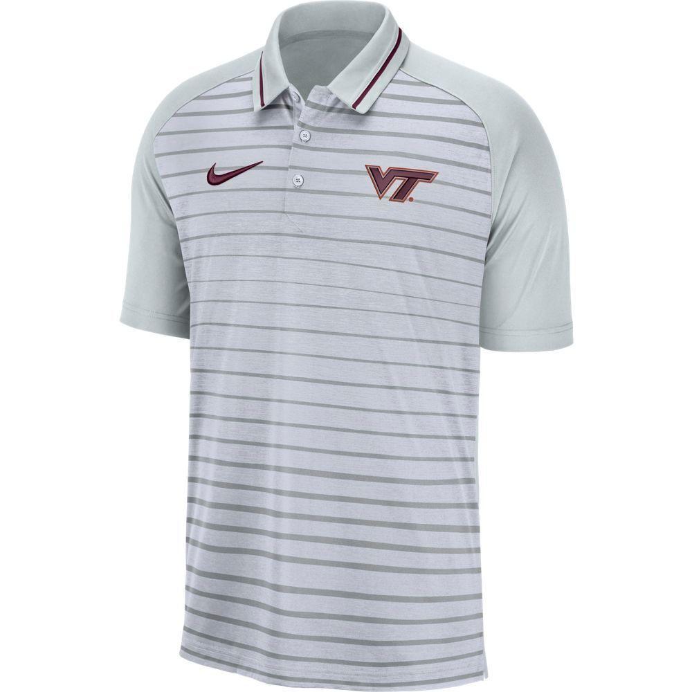 Virginia Tech Nike Dri- Fit Striped Polo