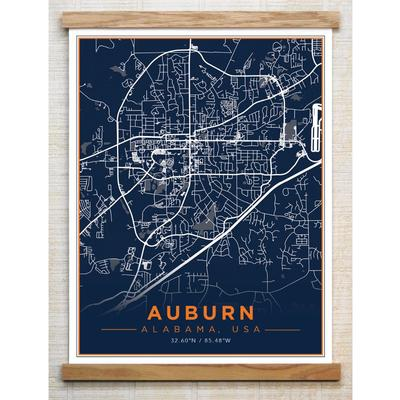 Chirpwood Auburn Canvas Map 18