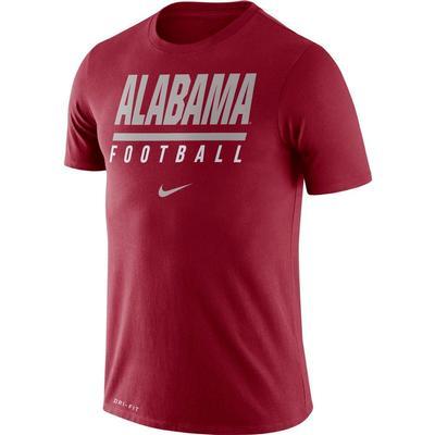 Alabama Nike Dri-FIT Cotton Icon Football Tee TEAM_CRIMSON