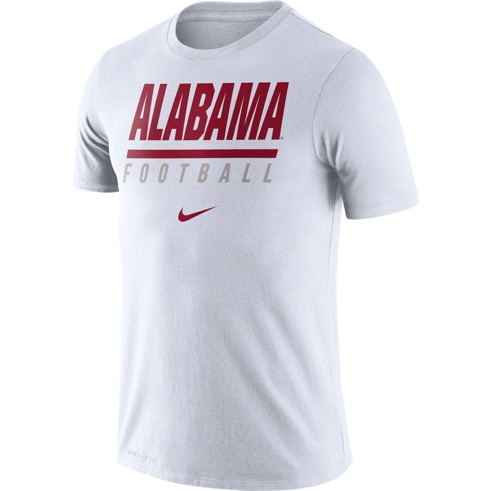 Alabama Nike Dri- Fit Cotton Icon Football Tee