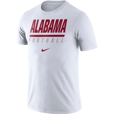 Alabama Nike Dri-FIT Cotton Icon Football Tee