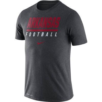 Arkansas Nike Dri-FIT Cotton Icon Football Tee CHARCOAL_HTHR