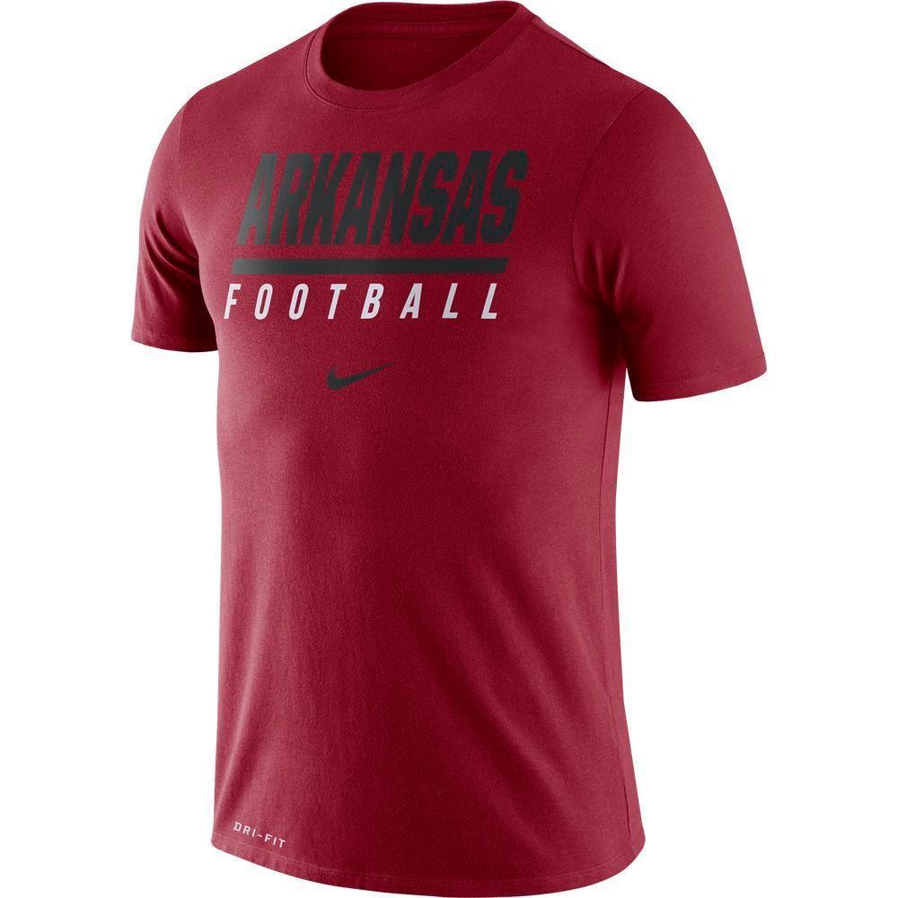 Arkansas Nike Dri- Fit Cotton Icon Football Tee