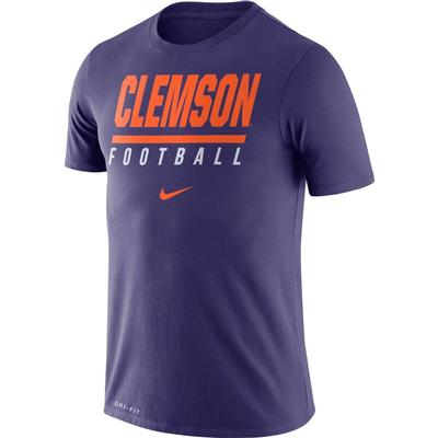 Clemson Nike Dri-FIT Cotton Icon Football Tee