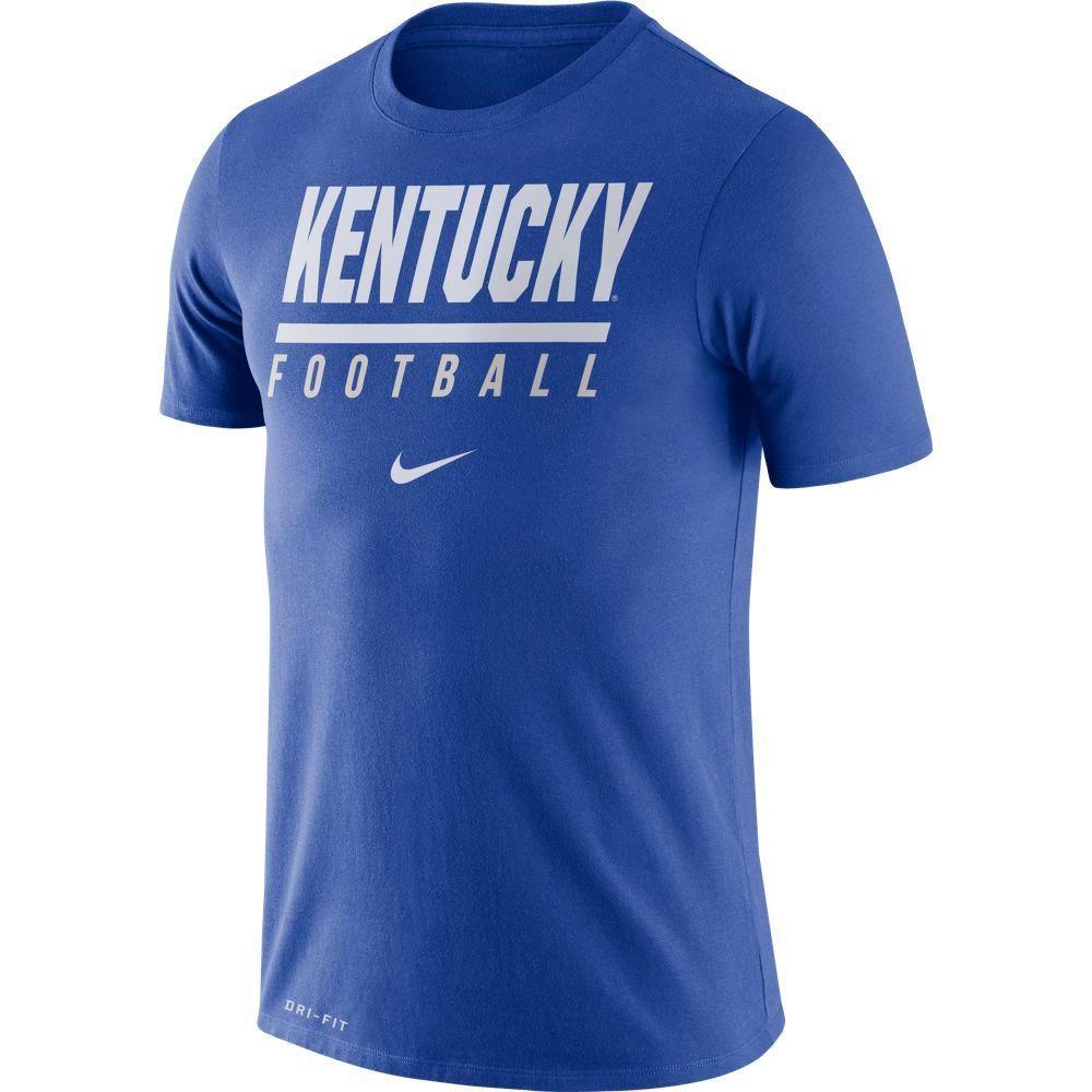 Kentucky Nike Dri- Fit Cotton Icon Football Tee