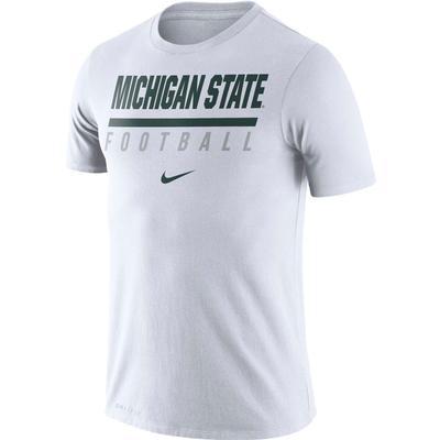 Michigan State Nike Dri-FIT Cotton Icon Football Tee