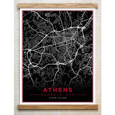 Chirpwood Athens Canvas Map 13