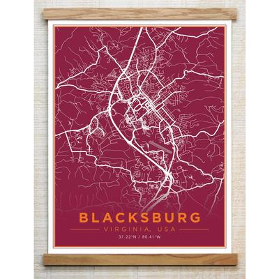 Chirpwood Blacksburg Canvas Map 13
