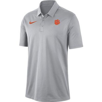 Clemson Nike Dry Franchise Polo WOLF_GREY