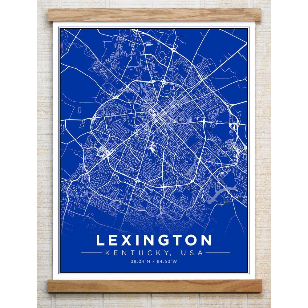 Chirpwood Lexington Canvas Map 13