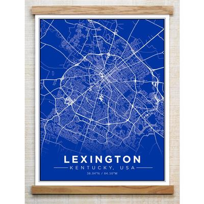 Chirpwood Lexington Canvas Map 18