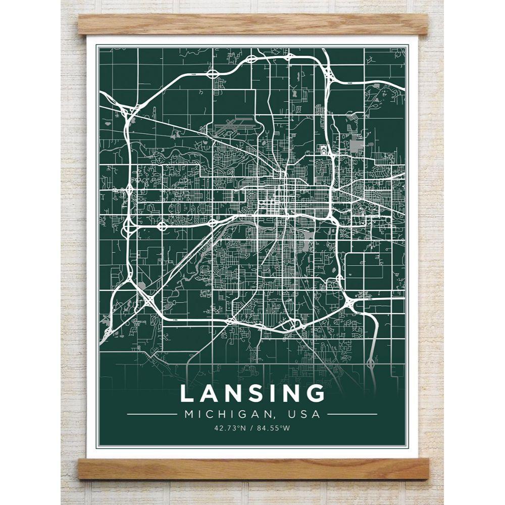 Chirpwood Lansing Canvas Map 13