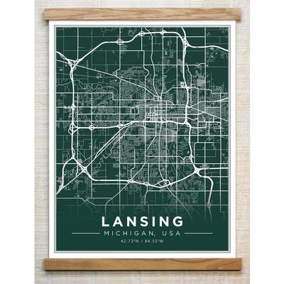 Chirpwood Lansing Canvas Map 18