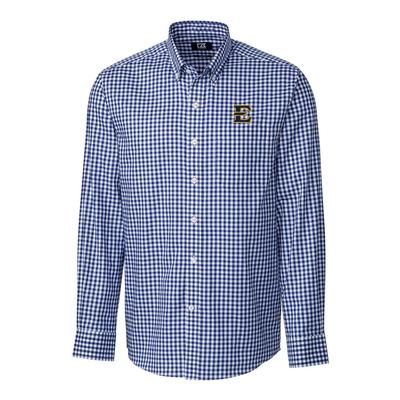 ETSU Cutter & Buck League Gingham Woven Dress Shirt