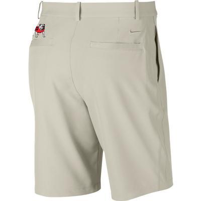 Georgia Nike Golf Standing Bulldog Flex Hybrid Shorts BONE