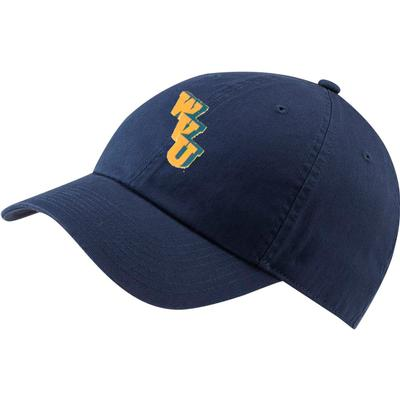 West Virginia Nike Golf Vault WVU H86 Washed Adj Hat OBSIDIAN